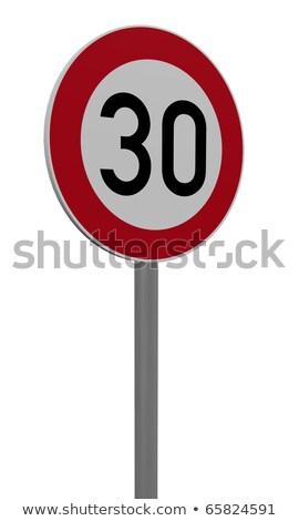 Numara otuz yol tekerlekler 3d illustration araba Stok fotoğraf © drizzd