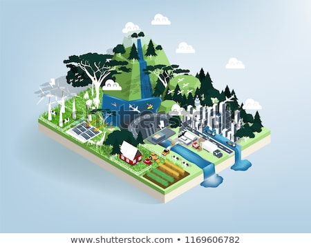 isometric nature and landscape stock photo © teerawit