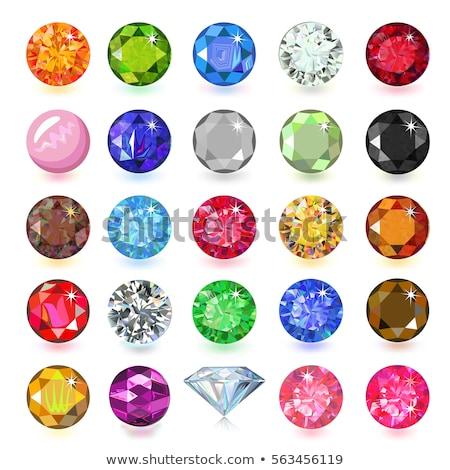 Vektör ayarlamak renkli mücevher dizayn elemanları Stok fotoğraf © Elisanth
