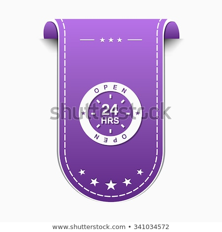 24 otwarte fioletowy wektora ikona projektu Zdjęcia stock © rizwanali3d
