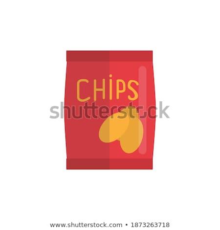 Rojo plástico cerrado tazón blanco mesa Foto stock © shutswis
