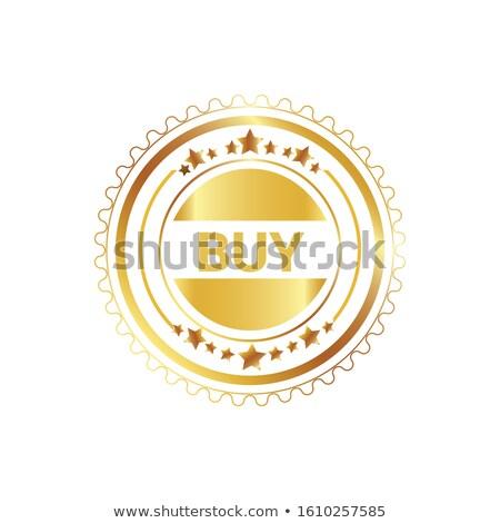 Vásárol körkörös vektor arany webes ikon gomb Stock fotó © rizwanali3d