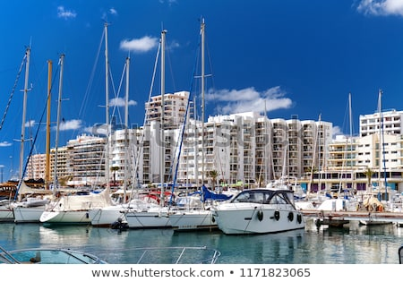 Stock photo: Moored vessels in the port of Ibiza, Balearic Islands. Spain