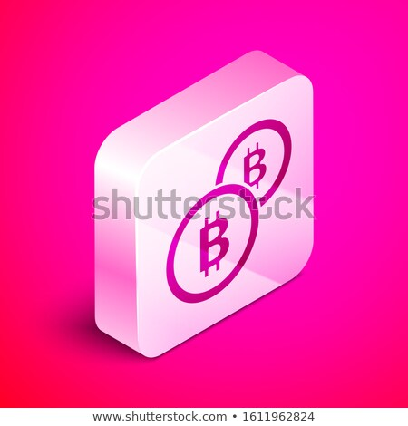 Bit Coin PinkVector Button Icon Stock photo © rizwanali3d