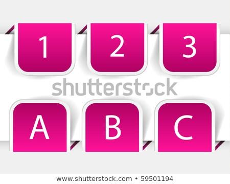 Seçenek pembe vektör düğme ikon dizayn Stok fotoğraf © rizwanali3d