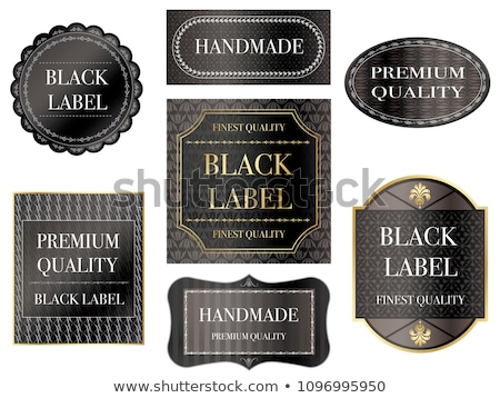 various vintage seals of quality with ornate elegant retro abstr stock photo © morphart