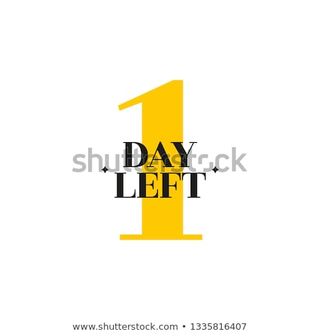 1 day Offer Yellow Vector Icon Design Stock photo © rizwanali3d