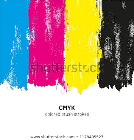 CMYK dotted brush strokes Stock photo © gladiolus