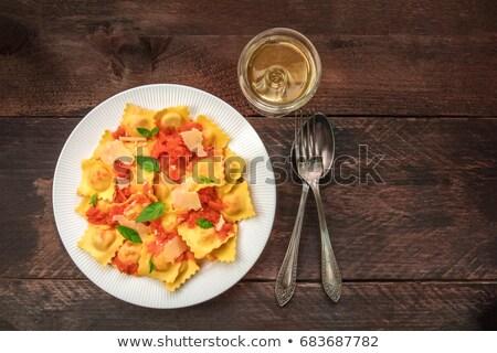 自家製 ラビオリ トマト 食品 パスタ 肉 ストックフォト © phila54