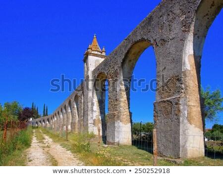 Romeinse hemel water Blauw steen architectuur Stockfoto © compuinfoto