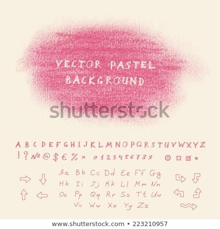 Olie pastel krijt alfabet hand geschilderd Stockfoto © pakete