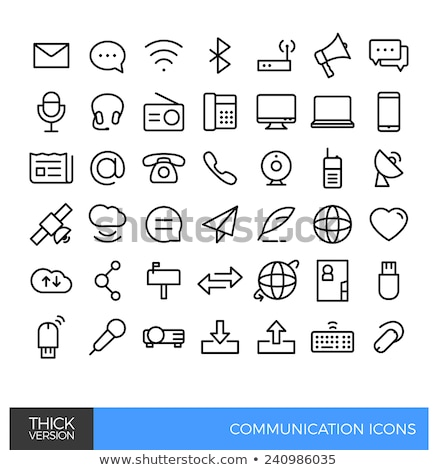 Global Contacts Icon. Flat Design. Stock photo © WaD