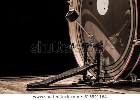 бас · барабан · изолированный · белый · фон · звук - Сток-фото © shutswis