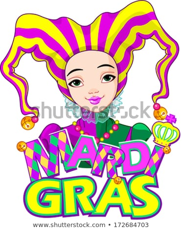 Mardi Gras Harlequin Lady Stock photo © Dazdraperma