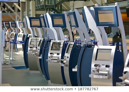 Background of airport with self check-in kiosk. Stock photo © RAStudio