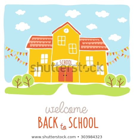 Back to School postcard. EPS 10 Stock photo © beholdereye