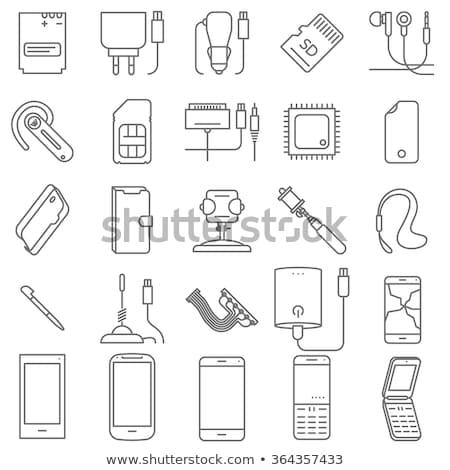 мобильных · иллюстрация · мобильного · телефона · кабеля - Сток-фото © wad