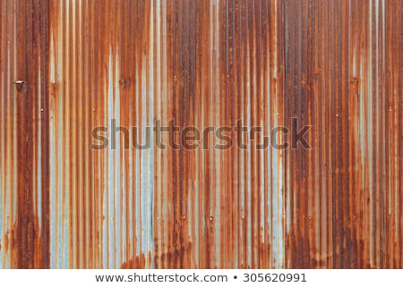 Rusty corrugated metal background Stock photo © njnightsky