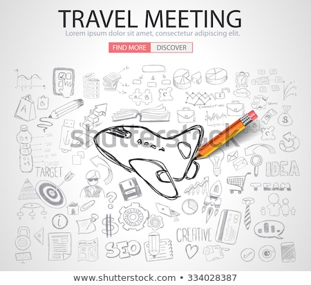 Travel for Business concept  with Doodle design style :finding routes Stock photo © DavidArts