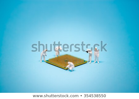 analyse · image · employé · de · bureau · touchpad - photo stock © kirill_m