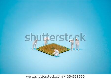 Technicus analyse cpu microprocessor technologie macro Stockfoto © Kirill_M
