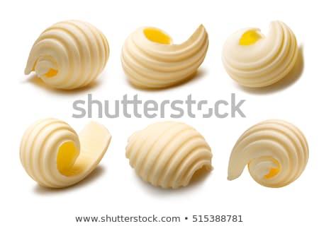 Vaj közelkép kettő étel friss izolált Stock fotó © Digifoodstock