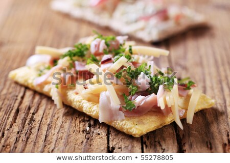 Crispbread with cheese and ham Stock photo © Digifoodstock