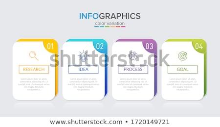 An infochart Stock photo © bluering
