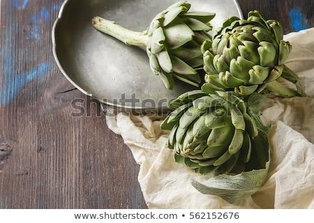 artichoke on wood background Stock photo © M-studio