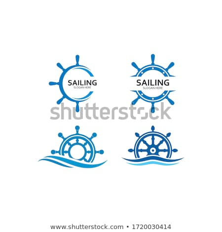 Rudder and Sea Icon Vector Illustration Stock photo © cidepix
