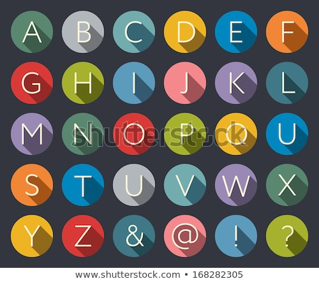 Buttons with letters of the alphabet Stock photo © bluering