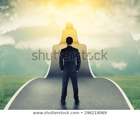 üzletember siker út személy fut út Stock fotó © Lightsource