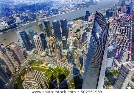 Wieża wieżowiec rzeki finansowych Cityscape Zdjęcia stock © billperry