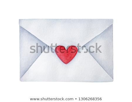 封筒 心 紙 結婚式 レトロな ストックフォト © user_10003441