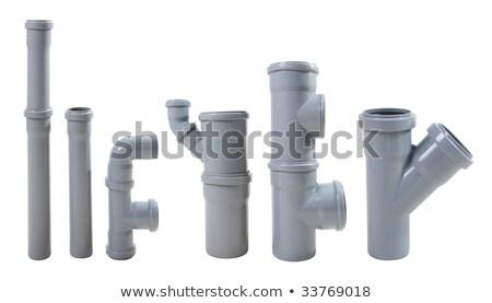 Modern su boşaltmak borular yalıtılmış beyaz Stok fotoğraf © rufous