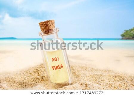 şişe boş cam içinde Stok fotoğraf © ldambies