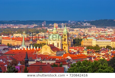 Saint Nicholas church in Prague at sunset Stock photo © CaptureLight