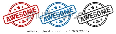 AWESOME! red Rubber Stamp Stock photo © chrisdorney