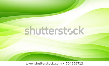 Green vector Abstract background with curves lines stock photo © fresh_5265954