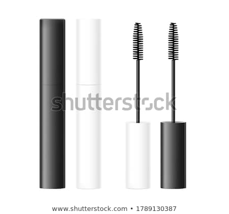 Mascara  plastic container for eyelashes  on black ストックフォト © DenisMArt