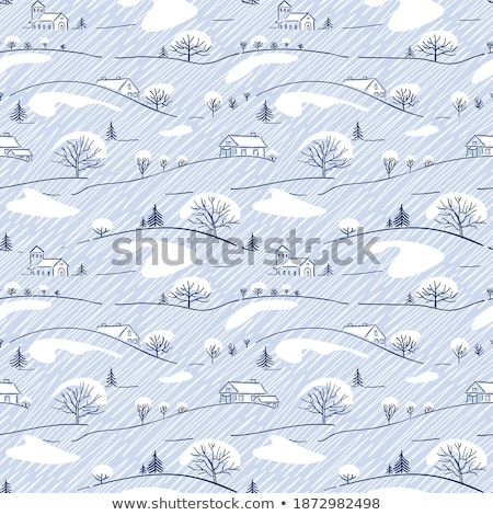 ink sketch of mountains with white fill stock photo © cidepix