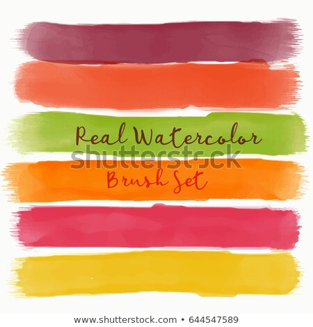 set of real watercolor brush with warm colors Stock photo © SArts
