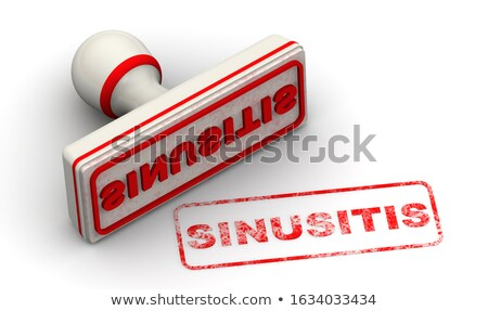 Stock photo: SINUSITIS Rubber Stamp