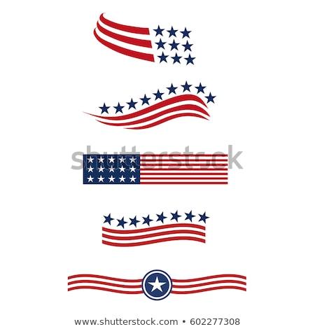 Patriota dzień odznakę projektowanie logo banderą plakat Zdjęcia stock © reftel