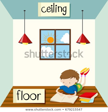 Opposite wordcard for ceiling and floor Stock photo © bluering