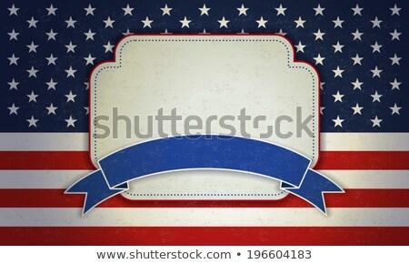 Blank slate on an American flag Stock photo © wavebreak_media