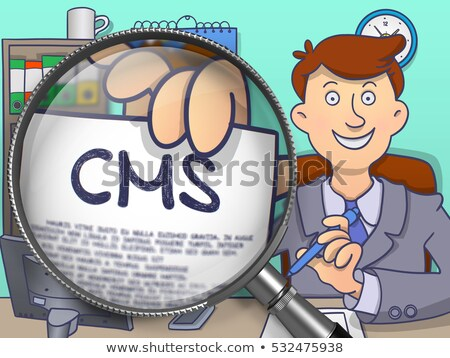 Article Marketing through Lens. Doodle Design. Stock photo © tashatuvango