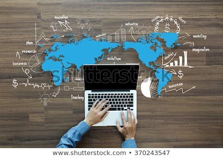 international trade concept with doodle design icons stock photo © tashatuvango
