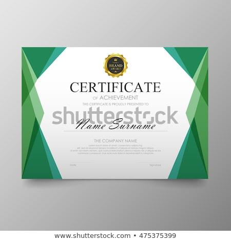 Stockfoto: Meetkundig · luxe · certificaat · sjabloon · vector · ontwerp