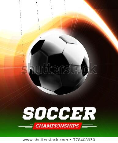 Futbol futbol top arka ışık uçuş yol Stok fotoğraf © m_pavlov